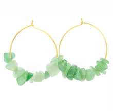 Load image into Gallery viewer, Rock Candy ~ Green Jade Hoops