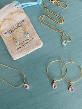 Load image into Gallery viewer, I Shine! Pink Hoops ~ Salty Pendants