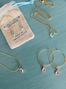 I Shine! Pink Hoops ~ Salty Pendants