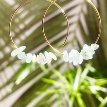 Load image into Gallery viewer, Aquamarine Hoops ~ Salty Stones