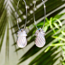 Load image into Gallery viewer, Abalone Pineapple Hoops ~ Salty Shells