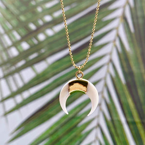 Crescent Horn ~ Salty Pendants