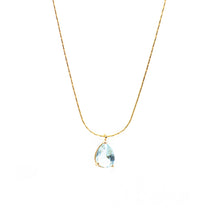 Load image into Gallery viewer, I Shine! Aqua Necklace ~ Salty Pendants