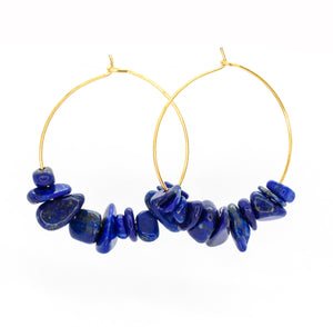 Rock Candy ~ Lapis Hoops