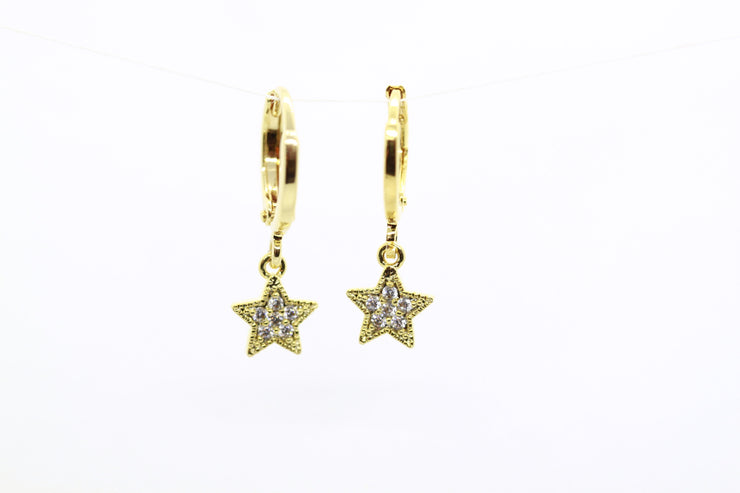 Star Hoops ~ Salty Pendants