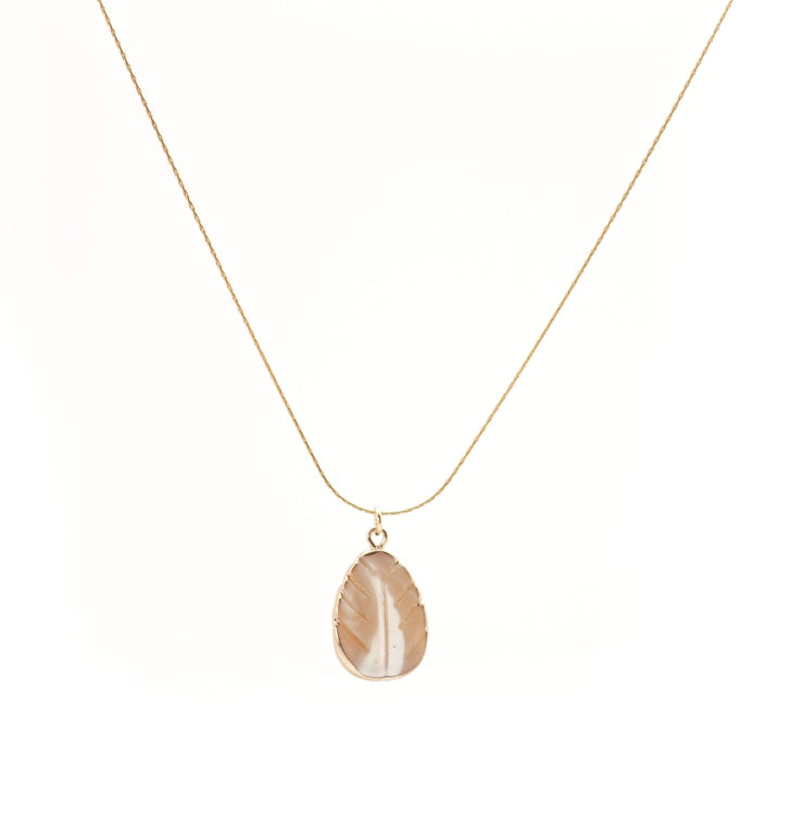 Mother Pearl Leaf ~ Salty Pendants