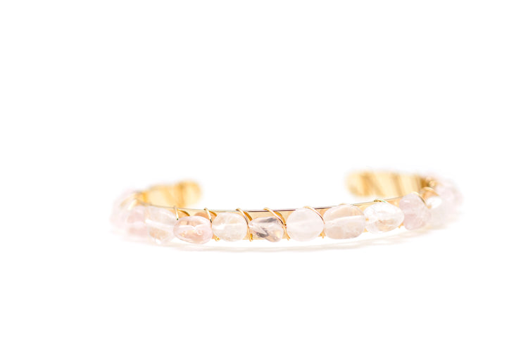 Pink Gemstone Bangle