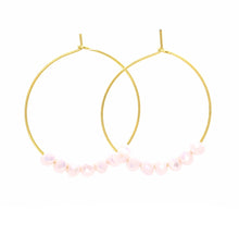 Load image into Gallery viewer, Glimmer Pale Pink Hoops
