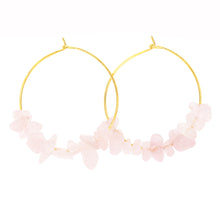 Load image into Gallery viewer, Rock Candy ~ Rose Quartz Hoops