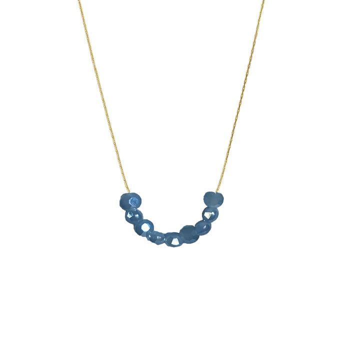 Glimmer Deep Blue Necklace