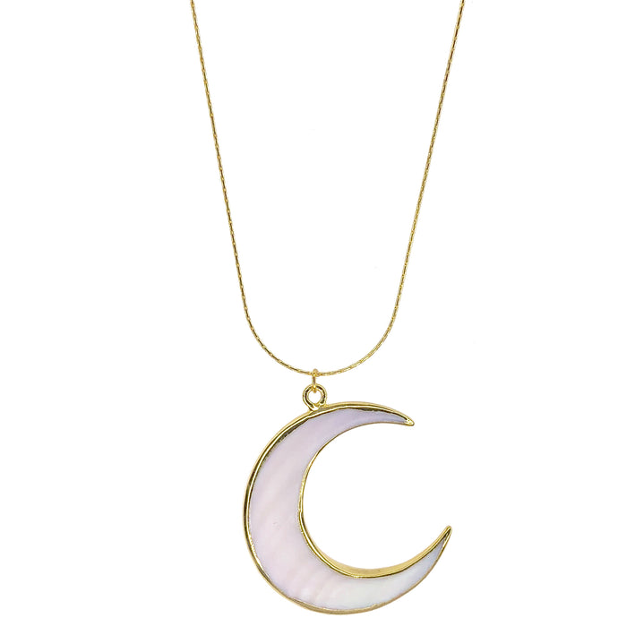 NEW!!! Large Abalone Moon Necklace- Salty Shells
