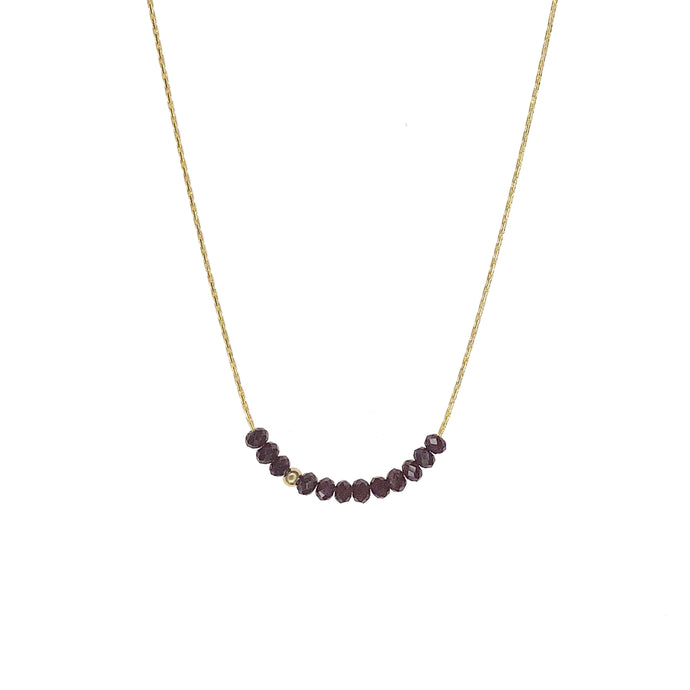 Sprinkle of Strength Necklace- Dark Red