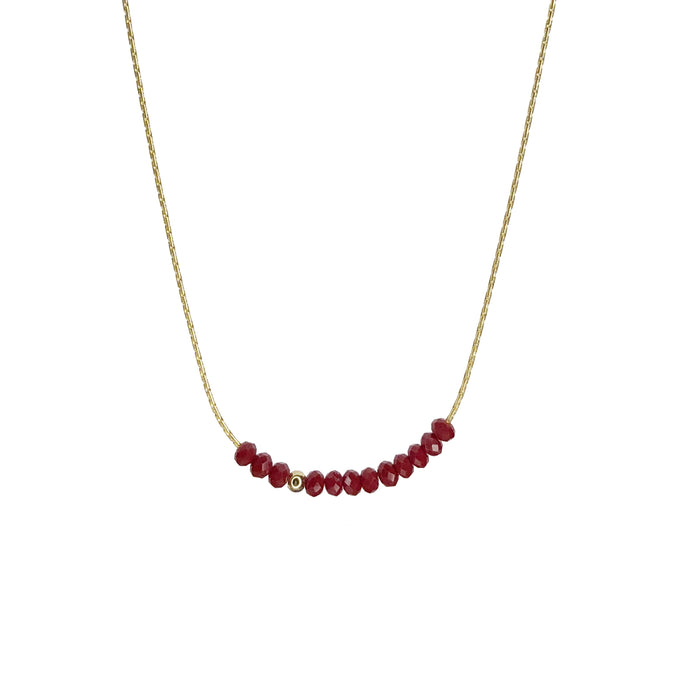 Sprinkle of Passion Necklace- Red