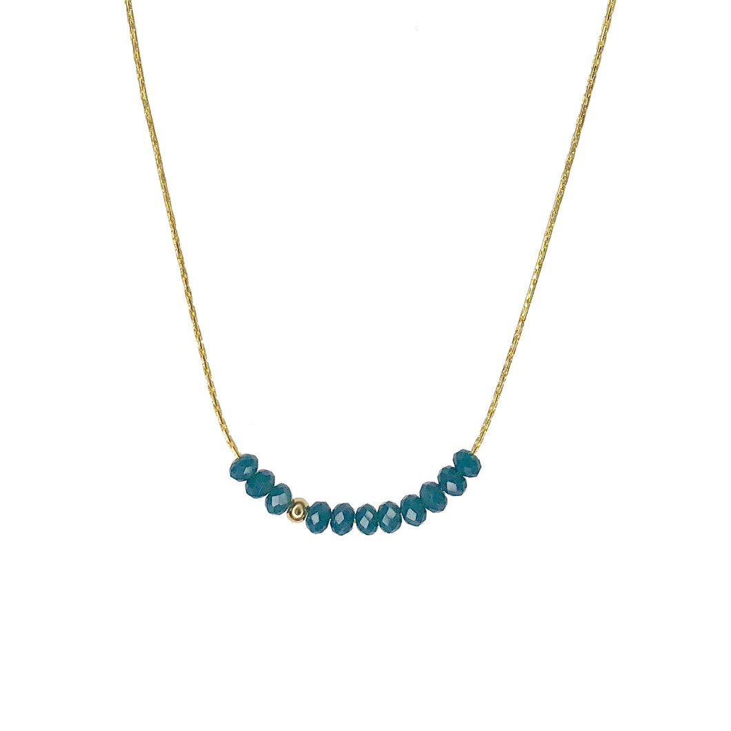 Sprinkle of Power Necklace- Teal
