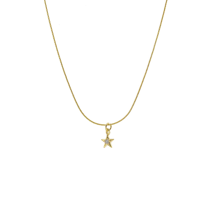 Tiny Sparkle Star Necklace ~ Salty Pendants