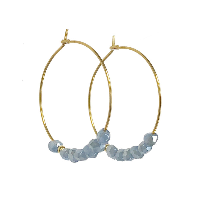 Glimmer Blue Hoops