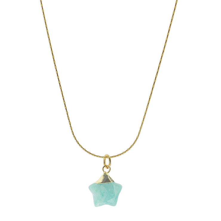 Salty.cali-aquamarine-star-necklace-Gold