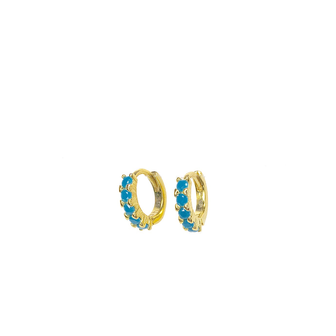Turquoise Hoop Earrings ~ Sweet