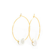 Shiva Shell Hoops ~ Salty Shells