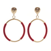 Amaral Silver Thread Hoops