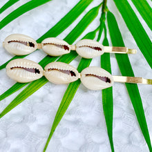 Load image into Gallery viewer, Triple Puka Shell Hair Pins ~ Salty Hair