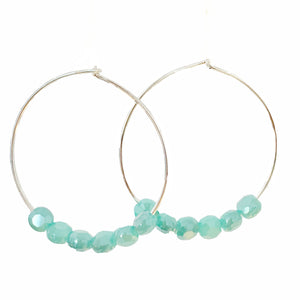 Glimmer Turquoise Hoops