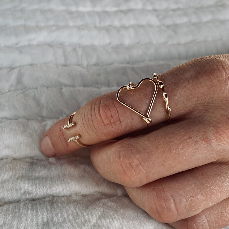 TRIPLE LOVE SET RINGS