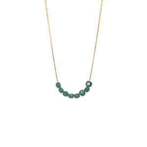 Glimmer Emerald Necklace
