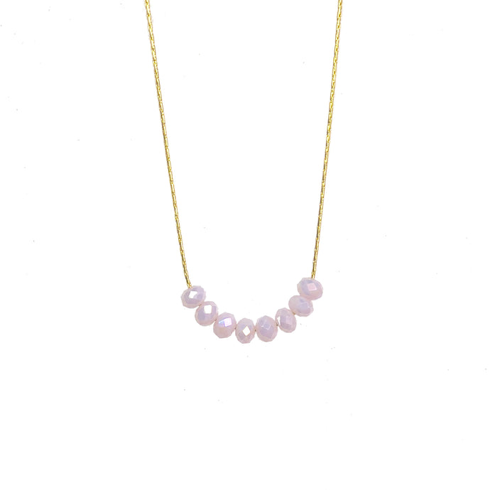 Glimmer Pale Pink Necklace