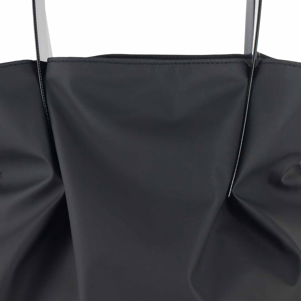 All Black Rubber Tulip Tote