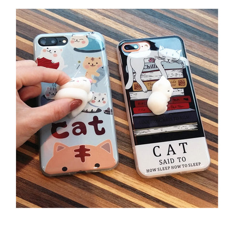 Cute Cat Soft Squeeze Silicone AntiStress Cover - BusyOrder