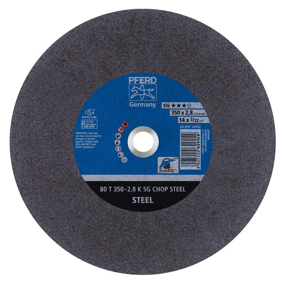 Pferd 350mm KSG Stationary Cut-Off Wheels for Stainless Steel (INOX) - Kiloton Online Store