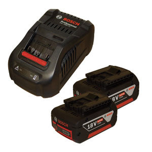 Bosch Professional Battery and Charger Starter Sets (2 x GBA 18V 6.0Ah + GAL 1880 CV) - Kiloton Online Store