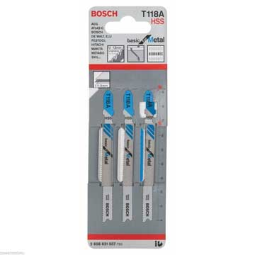 Bosch Professional Jigsaw Blades T 118 A for metal-Kiloton Online Store