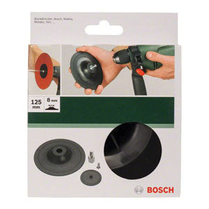 Bosch DIY Sanding Plates for drills, 125 mm, clamping system-Kiloton Online Store