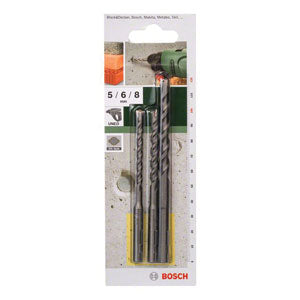 Bosch DIY 3-Piece Concrete Drill Bit Sets - SDS Quick - Kiloton Online Store