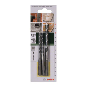 Bosch DIY 3-Piece Multi-Purpose Drill Bit Sets - SDS-Quick - Kiloton Online Store