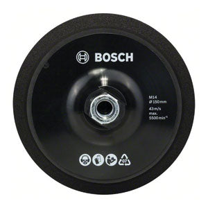 Bosch Professional M14 backing pads, 150 mm diameter, with hook-and-loop-type fastening system - Kiloton Online Store