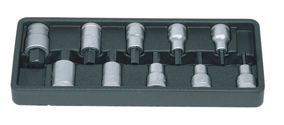 Gedore IN19 PM-10 10-Piece Allen Key Socket Sets-Kiloton Online Store