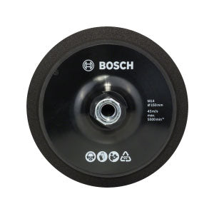 Bosch DIY M14 150mm Backing Pads (with hook-and-loop-type fastening system)-Kiloton Online Store