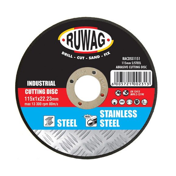 Ruwag Industrial Stainless Steel Abrasive Cutting Discs (Size: 115mm) - Kiloton Online Store