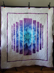 Quilt from floral panel
