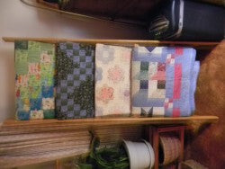 Sideways Photo of Quilt Rack