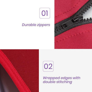 Magenta Luggage Protective Cover - Durable zippers with wrapped edging and double stitching.