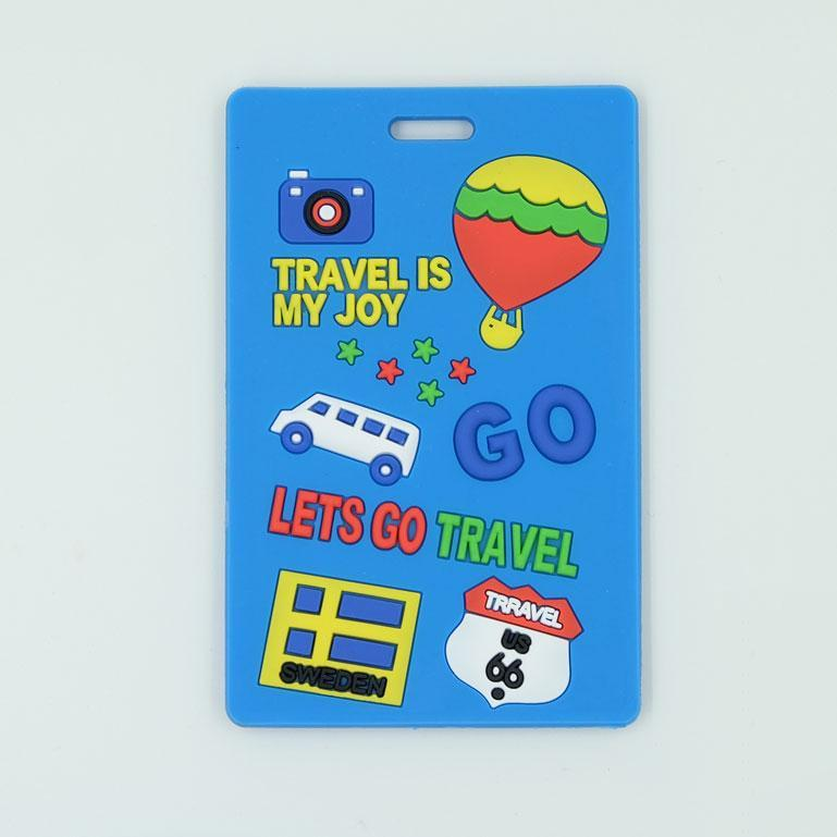 Lets Go Travel Luggage Tag - Easy identifiable designs. Made of silicone with address label on the other side.