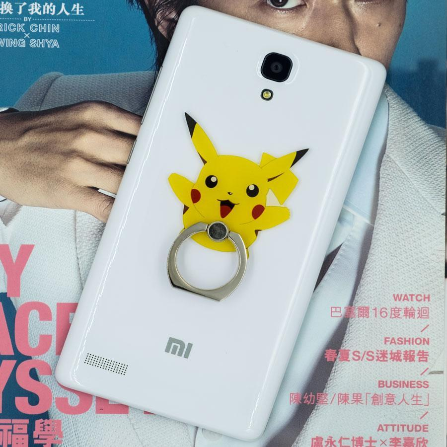 Pikachu Phone Ring Holder: Provides a good grip, prevents drops and deter thieves.
