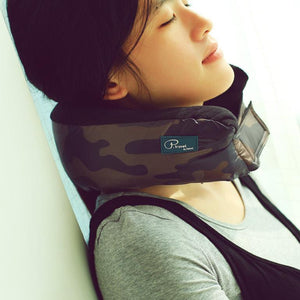 Blue Camo Multi-functional Travel Pillow - Very soft and comfortable keeping you rested wherever you go.