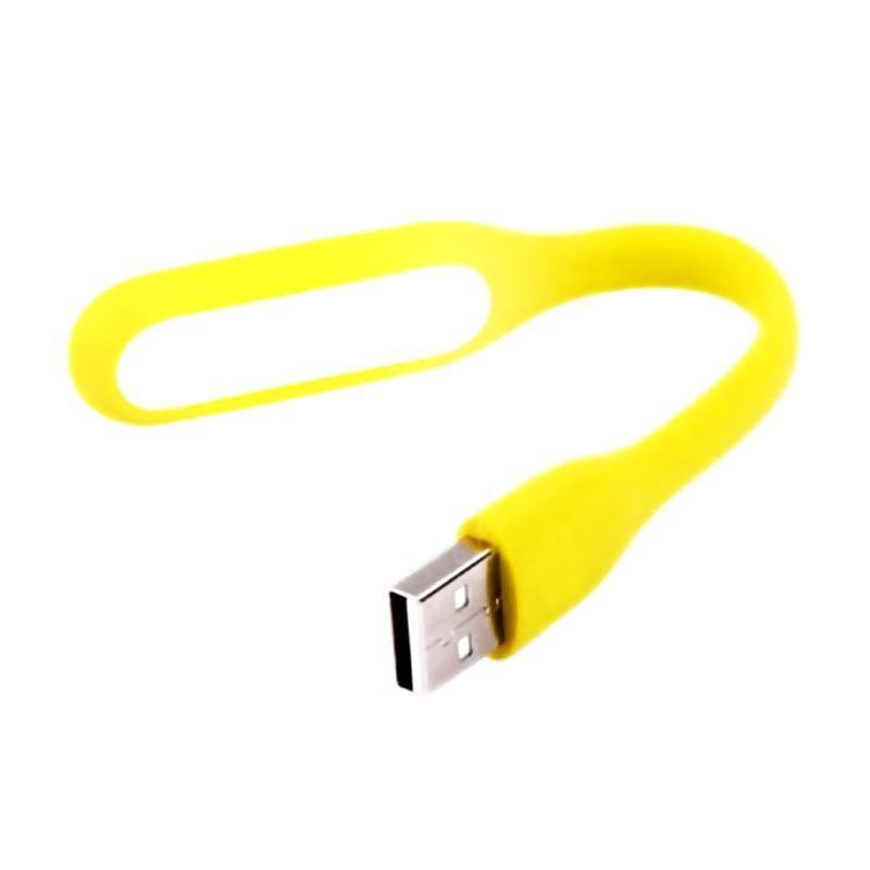 Yellow mini flexible USB light: Usb powered, bright, flexible, durable and compact.