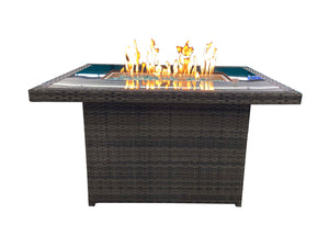 Rattan Propane Fire Table
