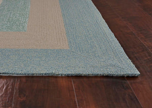 Outdoor Rug - Blue Rim